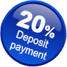 Pay 20% Deposit Only